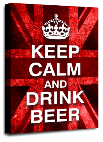 Keep Calm Drink Beer Red White Wall Art British Flag